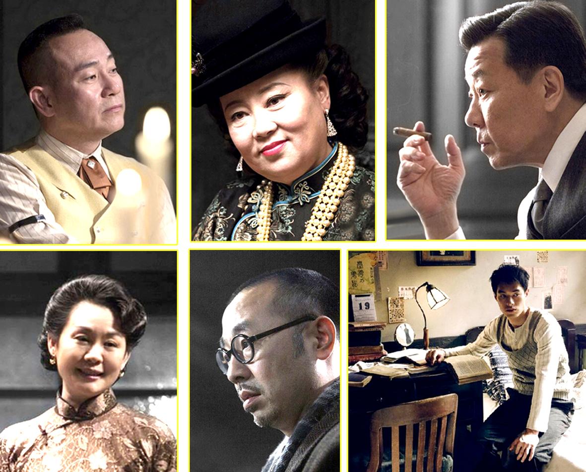 《太平輪:亂世浮生》演員,上排左起林保怡、方青卓、寇世勳,下排左起從珊、劉漢偉、楊佑寧。p1033-a8-08